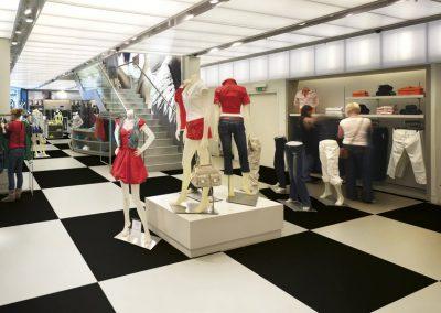 Ausstellung Bekleidungsgeschäft