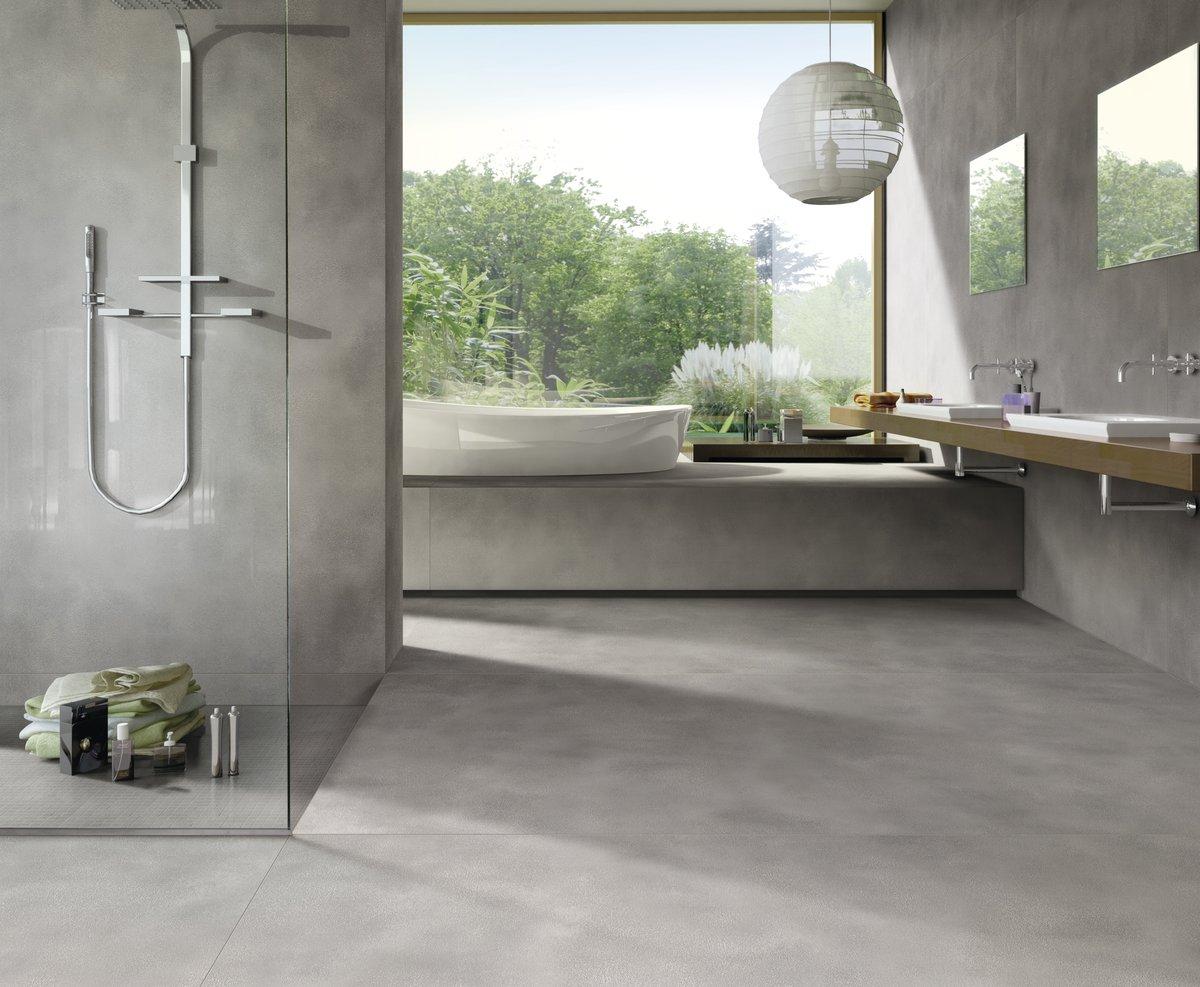 Großformatige Fliesen für Bad und Küche | Moos Bodensee | Riedmueller